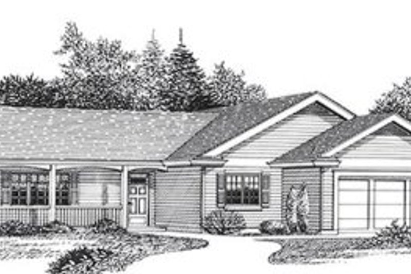 House Design - Traditional Exterior - Front Elevation Plan #53-238