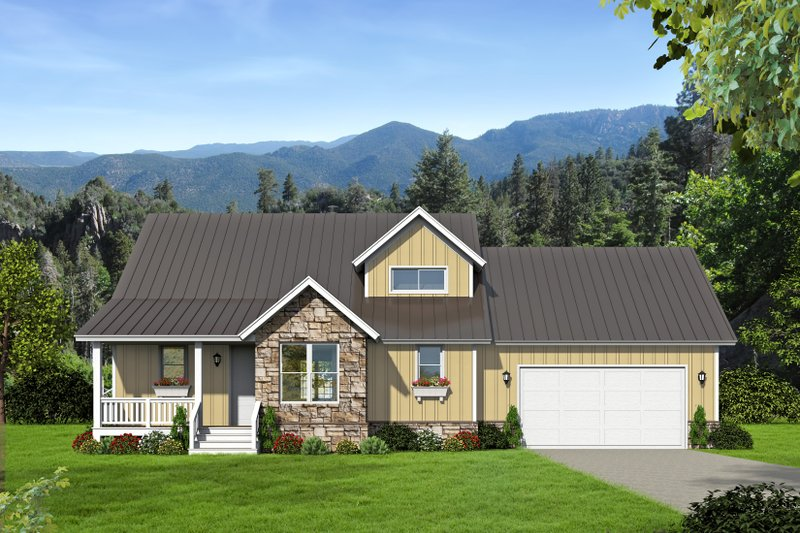 Home Plan - Southern Exterior - Front Elevation Plan #932-97