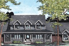 Farmhouse Exterior - Other Elevation Plan #20-208