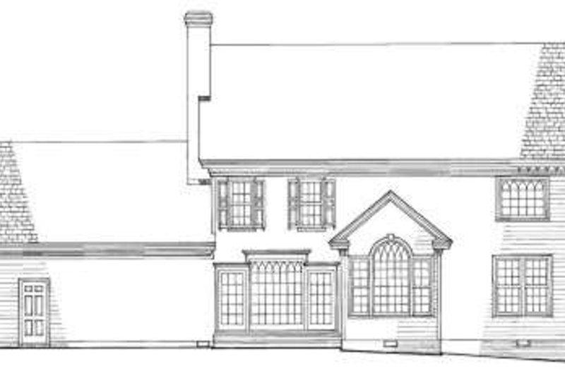 Southern Exterior - Rear Elevation Plan #137-129 - Houseplans.com