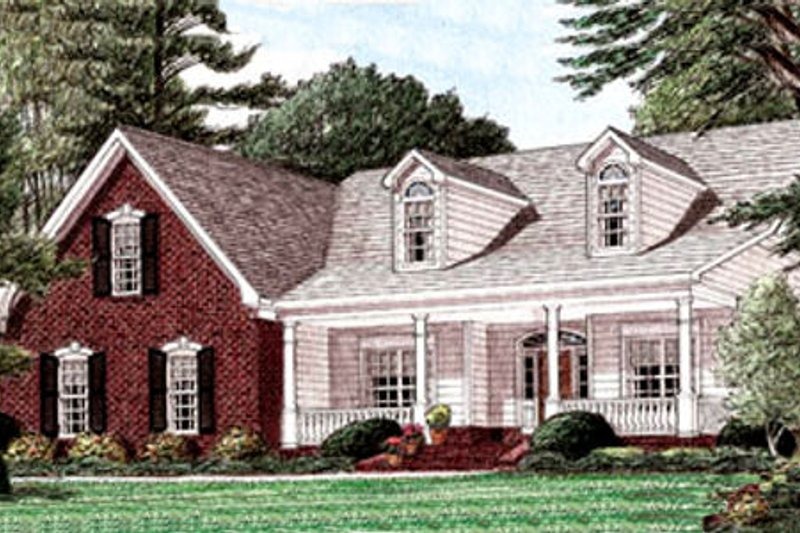 Country Exterior - Front Elevation Plan #34-157