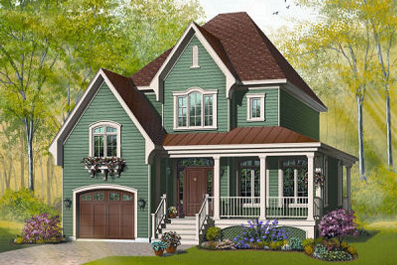 Dream House Plan - Farmhouse Exterior - Front Elevation Plan #23-803