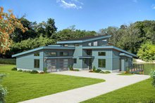 House Plan Design - Modern Exterior - Front Elevation Plan #932-384