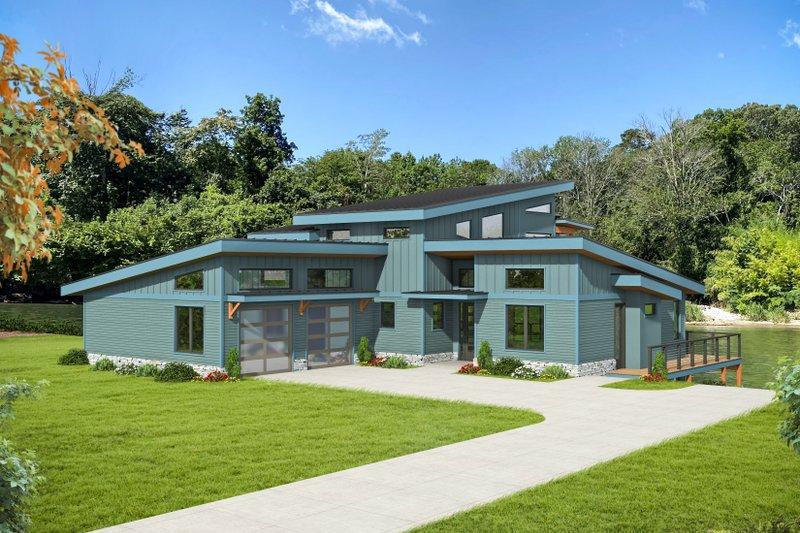 House Blueprint - Modern Exterior - Front Elevation Plan #932-384