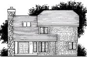Cottage Style House Plan - 3 Beds 2 Baths 1485 Sq/Ft Plan #320-469 Exterior - Rear Elevation