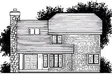 Home Plan - Cottage Exterior - Rear Elevation Plan #320-469