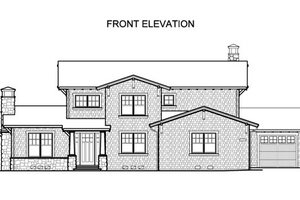 Traditional Exterior - Front Elevation Plan #490-22