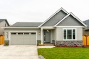 Ranch Style House Plan - 3 Beds 2 Baths 1829 Sq/Ft Plan #124-1186 Exterior - Front Elevation