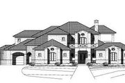 Mediterranean Style House Plan - 4 Beds 5.5 Baths 5378 Sq/Ft Plan #411-116 Exterior - Front Elevation