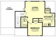 Farmhouse Style House Plan - 1 Beds 1 Baths 522 Sq/Ft Plan #430-237 Floor Plan - Upper Floor Plan