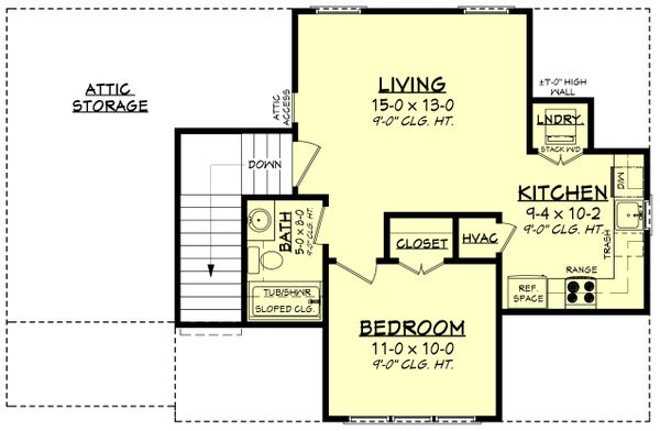 Farmhouse Floor Plan - Upper Floor Plan Plan #430-237