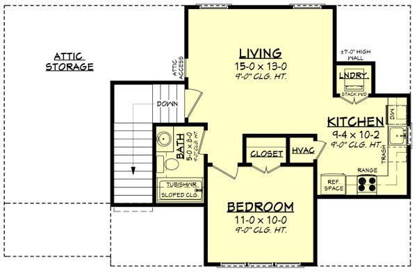 Farmhouse Floor Plan - Upper Floor Plan #430-237