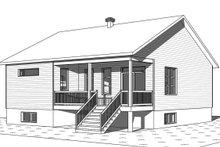 Dream House Plan - Farmhouse Exterior - Rear Elevation Plan #23-2716