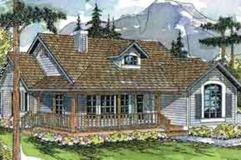 Farmhouse Exterior - Front Elevation Plan #124-406 - Houseplans.com