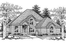 European Exterior - Front Elevation Plan #70-478