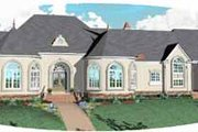 European Style House Plan - 5 Beds 4.5 Baths 7489 Sq/Ft Plan #81-413 Exterior - Front Elevation