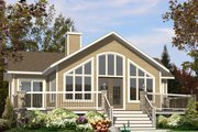 Contemporary Style House Plan - 2 Beds 1 Baths 1160 Sq/Ft Plan #138-376 Exterior - Rear Elevation