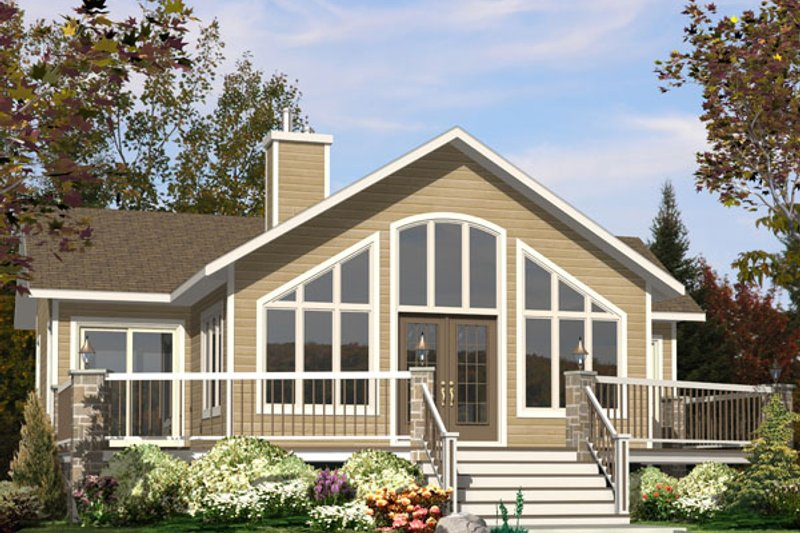 Contemporary Style House Plan - 2 Beds 1 Baths 1160 Sq/Ft Plan #138-376