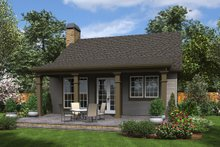 Cottage Exterior - Rear Elevation Plan #48-951