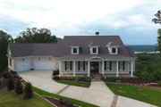 Farmhouse Style House Plan - 4 Beds 3.5 Baths 4152 Sq/Ft Plan #437-93 Exterior - Front Elevation