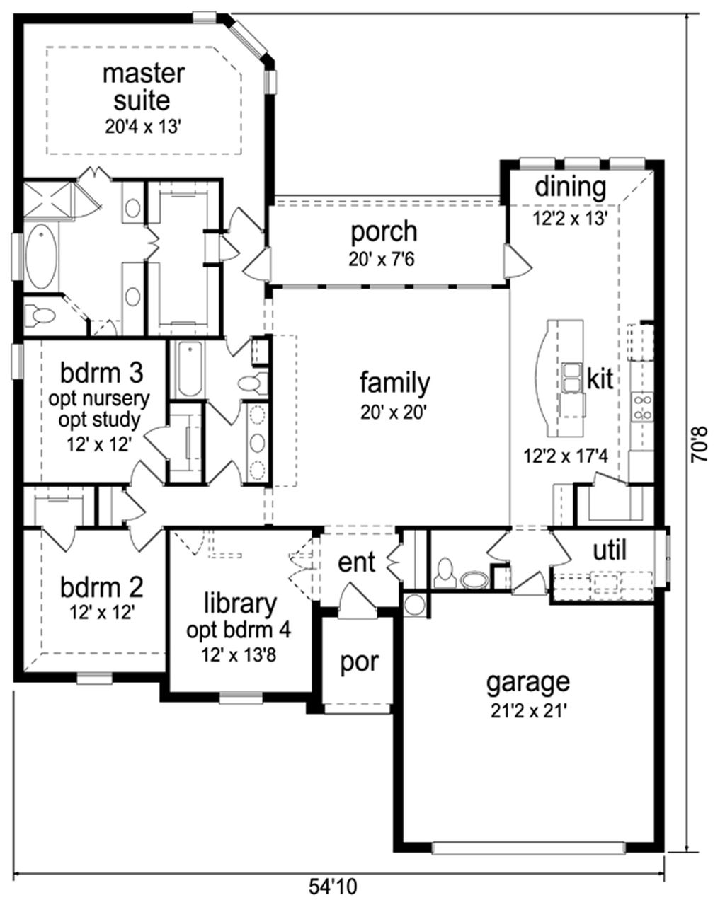 traditional style house plan 3 beds 2 5 baths 2300 sq ft