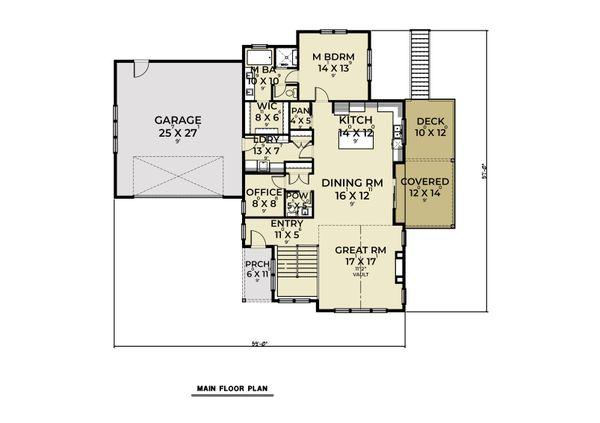 Dream House Plan - Craftsman Floor Plan - Main Floor Plan #1070-130