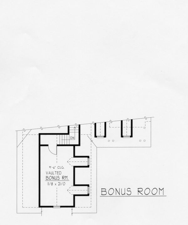 Country Floor Plan - Upper Floor Plan Plan #112-163