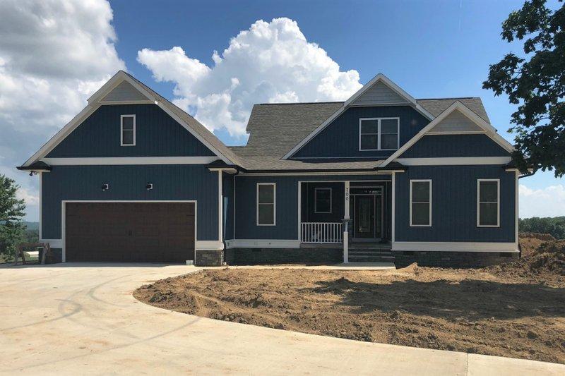 Architectural House Design - Craftsman Exterior - Front Elevation Plan #63-429