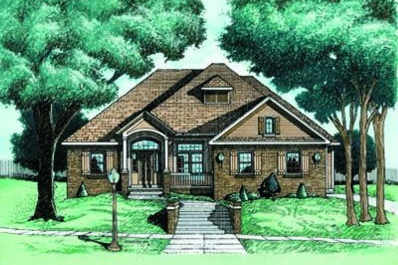 Traditional Exterior - Front Elevation Plan #20-541