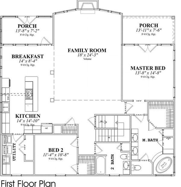 Contemporary Floor Plan - Main Floor Plan Plan #63-215