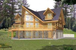 Log Exterior - Front Elevation Plan #117-411