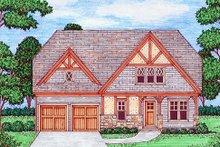 Dream House Plan - Tudor Exterior - Front Elevation Plan #413-881