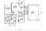 European Style House Plan - 4 Beds 3.5 Baths 2508 Sq/Ft Plan #20-261 Floor Plan - Main Floor Plan