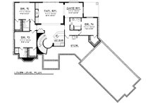 Traditional Floor Plan - Lower Floor Plan Plan #70-1091