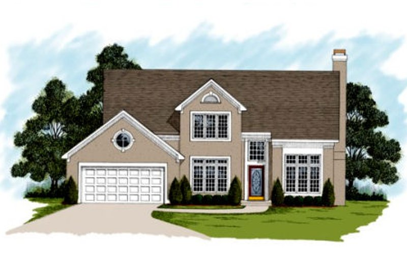 Traditional Exterior - Front Elevation Plan #56-172