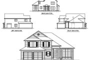 Traditional Style House Plan - 4 Beds 2.5 Baths 2426 Sq/Ft Plan #100-445 Exterior - Rear Elevation