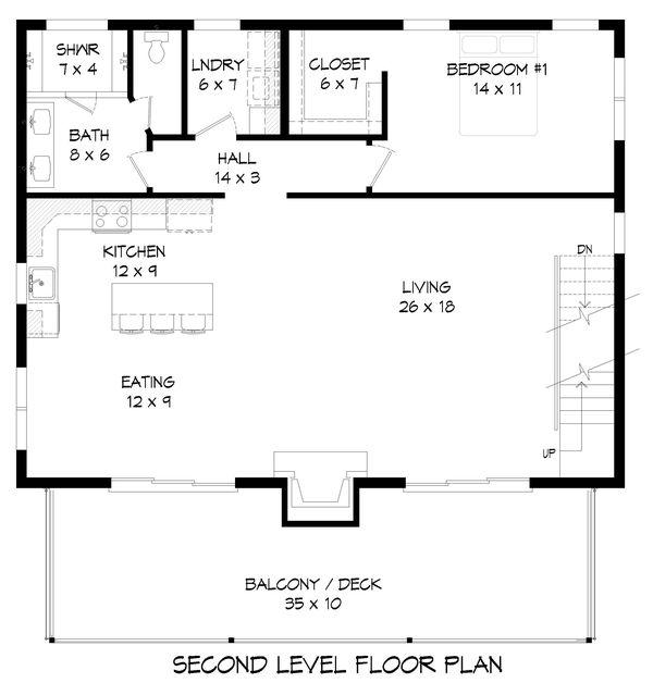 Contemporary Floor Plan - Upper Floor Plan Plan #932-256