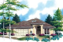 Dream House Plan - Mediterranean Exterior - Front Elevation Plan #48-426
