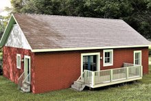 Ranch Exterior - Rear Elevation Plan #44-228