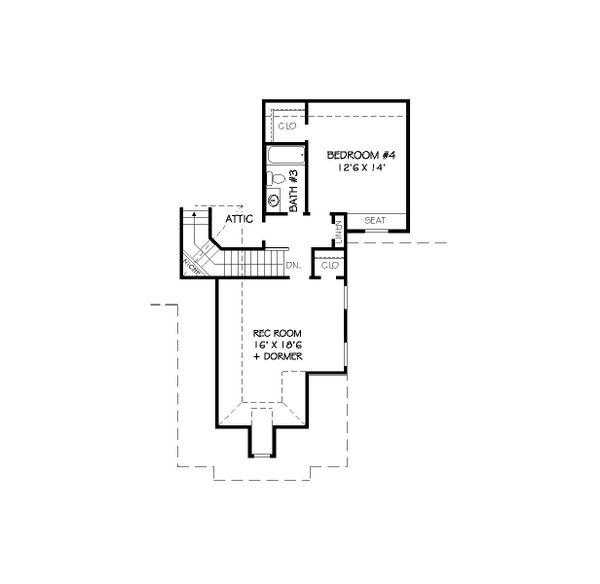European Floor Plan - Upper Floor Plan Plan #424-250