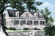 Southern Exterior - Front Elevation Plan #137-208