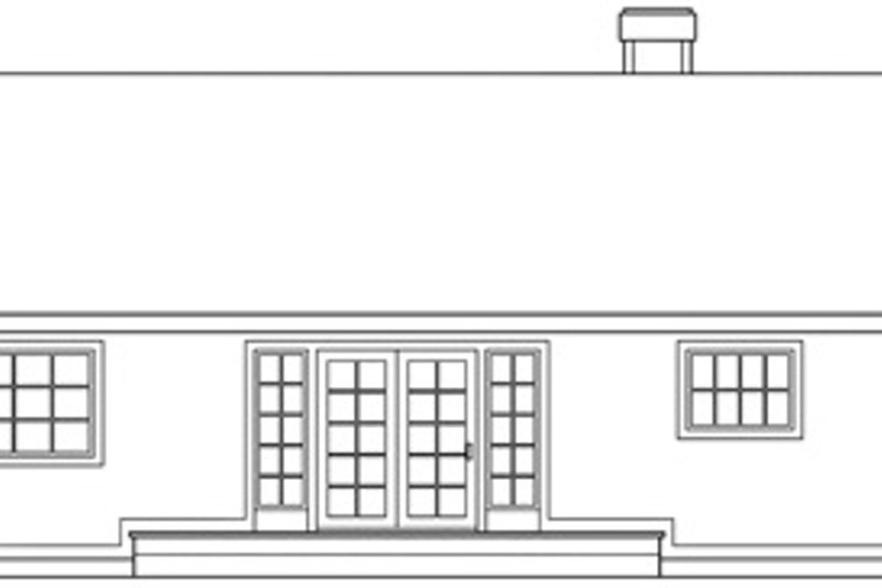 Traditional Exterior - Rear Elevation Plan #124-139 - Houseplans.com