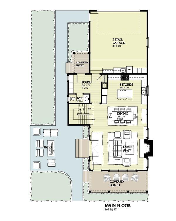 Beach Floor Plan - Main Floor Plan Plan #901-131