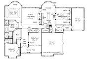 Traditional Style House Plan - 5 Beds 4.5 Baths 3482 Sq/Ft Plan #927-11 Floor Plan - Main Floor