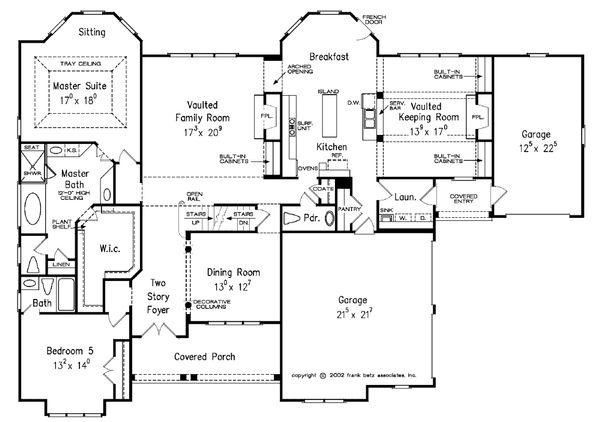 Dream House Plan - Traditional Floor Plan - Main Floor Plan #927-11