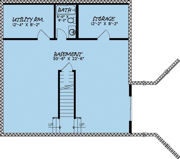 Cabin Floor Plan - Lower Floor Plan Plan #923-9