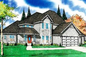 Dream House Plan - Traditional Exterior - Front Elevation Plan #405-134