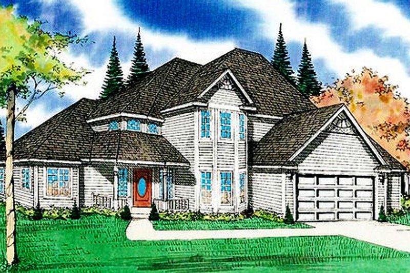 Traditional Exterior - Front Elevation Plan #405-134 - Houseplans.com