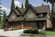 Craftsman Style House Plan - 2 Beds 2.5 Baths 1626 Sq/Ft Plan #48-626 Exterior - Front Elevation
