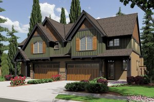 Craftsman Exterior - Front Elevation Plan #48-626